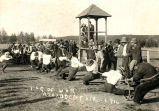 Tug of war, Athabasca Fair, 1916
