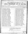 The Dominion elections Act: Rural Preliminary List of Electors