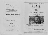 Athabasca Concert Part Produces: Sonia, The Girl From Russia