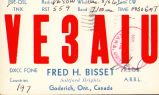 VE3AIU QSL card from Fred Bisset