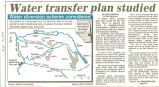 Water transfer plan studied
