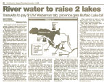 River water to raise 2 lakes