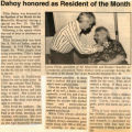 Dahoy Honored as Resident of the Month