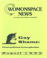 Womonspace News: Our Voice in the Lesbian Community. Gay Shame: Internalized Homophobia