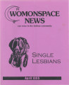 Womonspace News: Our Voice in the Lesbian Community. Single Lesbians
