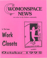 Womonspace News: Our Voice in the Lesbian Community. Work Closets