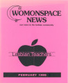 Womonspace News: Our Voice in the Lesbian Community. Lesbian Teachers