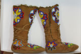 Athapaskan beaded dance boots