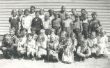 Albert Karvonen's students at Mission Hill School District No. 4585, Hollow Lake, Alberta.