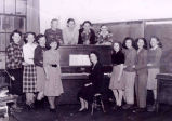 Alberta Karvonen, his sister Martha, and other students in the choir at Warspite School District...