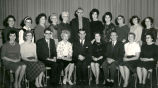 Assistant Principal Albert Karvonen (bottom row, third from right) and teaching staff at Elmwood...