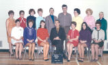Principal Albert Karvonen (bottom row, middle) and teaching staff at Rundle Elementary School in...