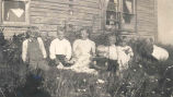 Albert Karvonen and his siblings at their home in Hollow Lake, Alberta.  Left to right: Eino,...