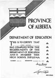 High school diploma awarded to Albert Karvonen, Edmonton, Alberta.