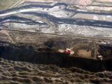Pit Mining of Oil Sands, near Fort McMurray -3