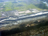 Land cleared for Oil Sands Extraction at edge of Pit Mine