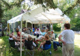 Birthday Celebration at Pigeon Lake Family Farm (food tent)