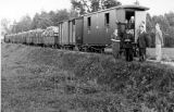 Railroad Cars Loaded with Firewood