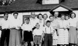 Family Reunion at Pederson farm near Pigeon Lake, Alberta ( 1948)