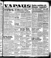 Vapaus, March 3, 1953