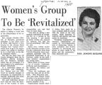 Women's Group to be Revitalized, March, 1968