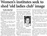 "Women's Institutes seeks to shed """"Old Ladies Club"""" image"